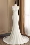 Robe de mariée Printemps De plein air Traîne Mi-longue Sirène