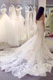 Robe de mariée Sans courroies Satin Décalcomanie Laçage Longue