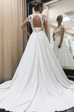 Robe de mariée Dentelle Naturel taille Salle des fêtes A-ligne