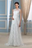 Robe de mariée Grossesse De plein air Gazer Dentelle Bouton Taille haute