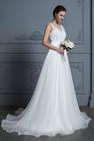 Robe de mariage Formelle De plein air Longue aligne Col en V