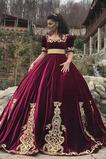 Robe de bal Cérémonie Fermeture à glissière A-ligne Rosée épaule