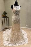Robe de mariée Sirène Sans Manches Manquant Longue Mode Haut Bas
