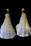 Robe de fille de fleur Bébé Cérémonie Manche Courte Exquisite