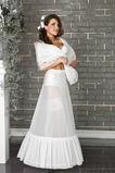 Petticoat de mariage Robe pleine Deux jantes Flouncing blanc