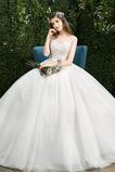 Robe de mariage Longueur Cheville Sablier Perle aligne Trou De Serrure