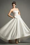 Robe de mariée Sans Manches Soie Fermeture à glissière Traîne Mi-longue