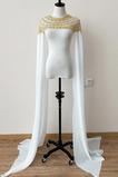 Cape de mariée en mousseline de soie manteau de soirée