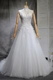Robe de mariée Naturel taille Haute Couvert Satin A-ligne Manquant