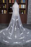Voile de mariée Luxueux Fleurs Largeur Ivoire Mariage Longue