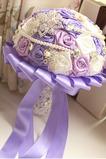 Perçage de l'eau perle Creative Rose Purple thème mariage mariée tenant fleur
