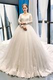 Robe de mariée Tulle Naturel taille Médium aligne Fermeture à glissière