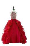 Robe de fille de fleur Ballon Petit collier circulaire Longueur Cheville