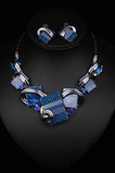 Femmes fleurs cristal vente chaude collier en argent et pendentif