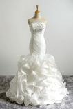 Robe de mariage Taille chute Cathédrale Printemps Laçage Sans Manches