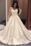 Robe de mariée Traîne Moyenne a ligne Satin Printemps Col Bateau