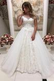 Robe de mariage Salle Manche Courte Automne Naturel taille Éternel