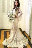 Robe de mariée net Trou De Serrure Naturel taille Automne Romantique