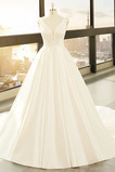 Robe de mariée Dos nu Traîne Moyenne Hiver Naturel taille Satin