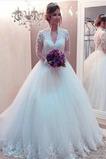 Robe de mariée Vintage Tulle Longueur de plancher Automne Couvert de Dentelle