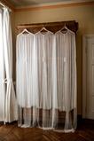 Tulle perle mariée châle élégante longue veste 200CM