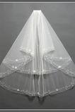 Voile de mariée Moderne Tulle Perle blanc Avec le peigne Multi Couche