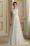 Robe de mariage Mousseline Empire Taille haute Couvert de Dentelle