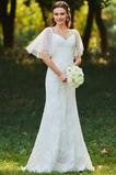 Robe de mariée Près du corps Taille chute Automne Fermeture à glissière