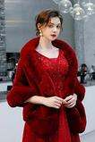 Châle de velours imitation eau grande taille manteau chaud mariée