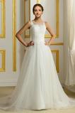 Robe de mariée net Printemps a ligne Manquant Chic Col Bateau