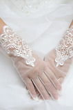 Gants de mariage Mode Mariage Dentelle Printemps Court Doigt entier