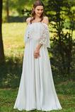 Robe de mariée Dos nu Décalcomanie Rosée épaule a ligne Petites Tailles
