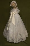 Robe de fille de fleur Princesse Dentelle Cérémonie Ceinture en Étoffe
