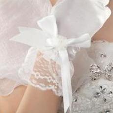 Gants de mariage Taffetas Ancien Doigt entier Cérémonie Nœud à Boucles