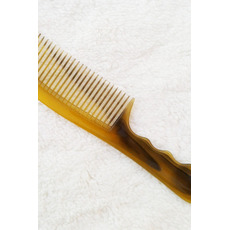 Raffinement de la vente chaude jaune simple Flat peigne boeuf tendon petit miroir et peigne
