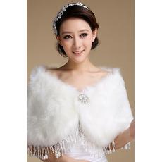 Châle de mariage blanc Froid Glamour Broche fleurie en cristal