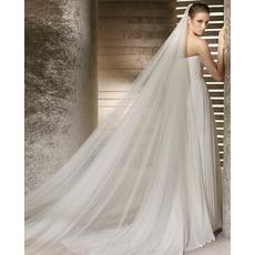 Voile de mariée Mariage Cérémonial Avec le peigne La taille peut être personnalisée
