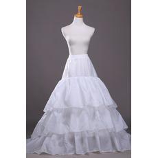 Petticoat de mariage Flouncing À la mode Trailing Robe de mariée