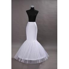 Petticoat de mariage Robe de mariée Sexy Spandex blanc Jantes simples