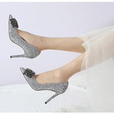 Pointu strass chaussures femmes mariage talons aiguilles chaussures de demoiselle d'honneur