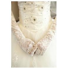 Gants de mariage Doigt entier Formelle Translucide Automne Longue