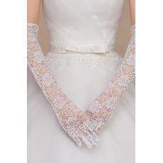 Gants de mariage Mariage Cérémonial Super long blanc Automne