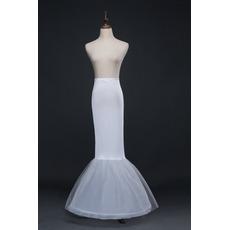 Petticoat de mariage Matériau élastique Robe de mariée Sans cadre