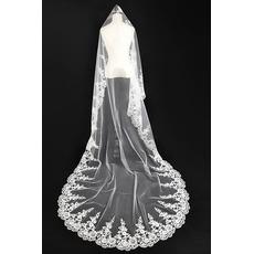 Voile de mariée Avec le peigne blanc Robe de Mariée Déesse Longue