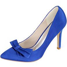 Noeud en satin avec talons aiguilles chaussures de princesse chaussures de mariage