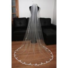 Voile de mariée La taille peut être personnalisée Tulle blanc