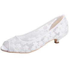 Chaussures en dentelle printemps-été respirant chaussures de mariage confortables pour femmes