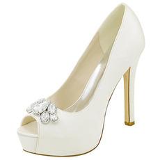 Chaussures de soirée strass chaussures de mariage sexy bouche de poisson chaussures de mariage à talons hauts sandales à talons