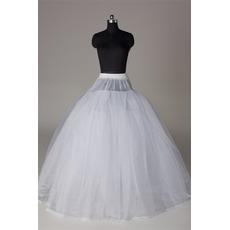 Petticoat de mariage Élégant Fort net Sans cadre Robe pleine