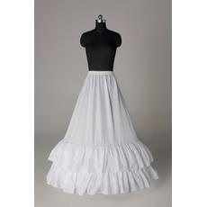 Petticoat de mariage Deux jantes Taffetas en polyester Robe pleine